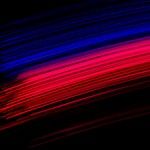 Photo: Red/Blue Fiber Paths (Flat)