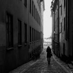 Walking Down Gamla Stan