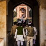Entering Humayun's Tomb