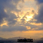 Ferry in the Sunset
